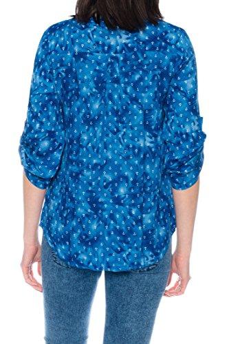 Dress Sheek Damen 3/4 Tunika Oberteil T-Shirt Top Normale und Übergrößen Große Größen Gemustert Lüftig Basic Bluse DS091
