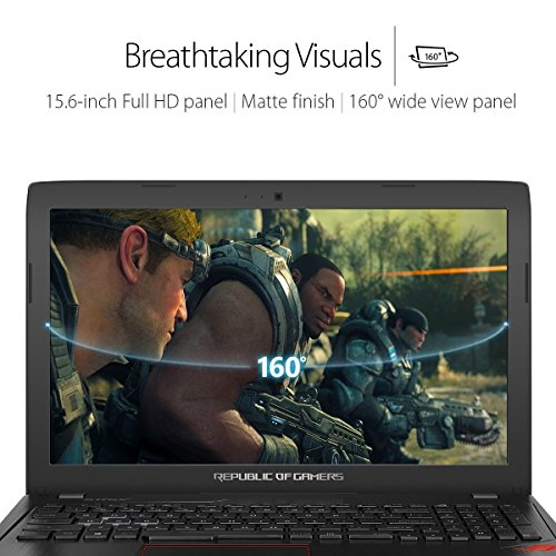 ASUS ROG GAMING LAPTOP GL553VD-FY103T, CORE I7 7TH GEN 7700HQ, 8GB DDR4 RAM, 1TB HDD, DVD RW, 4GB NV GTX 1050T GDDR5, WINDOWS 10, 2 YEARS WARRANTY
