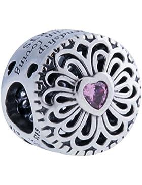 Pandora Damen-Bead 925 Silber Zirkonia rosa-791955PCZ