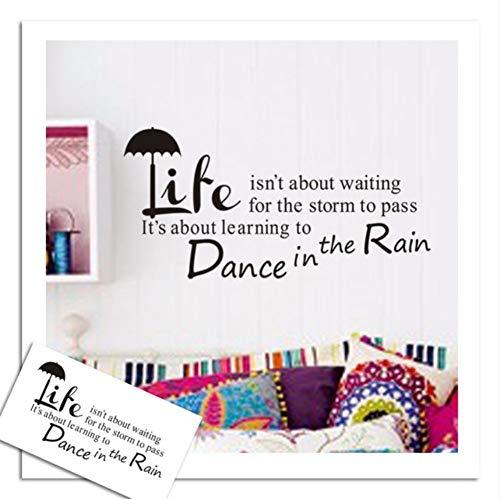 Fushoulu Tanz Im Regen Zitate Home Decor Vinyl Wandaufkleber Moderne Kinderzimmer Wohnzimmer Wandtattoos Poster Stikers Wandbild