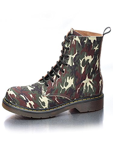 Marion Spath Damen 30-15-13 Canvas Boots Camouflage