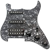 ammoon 3capas golpeador guitarra eléctrica caricato Pastilla Humbucker Pickups Set for Fender Strat ST guitarra eléctrica