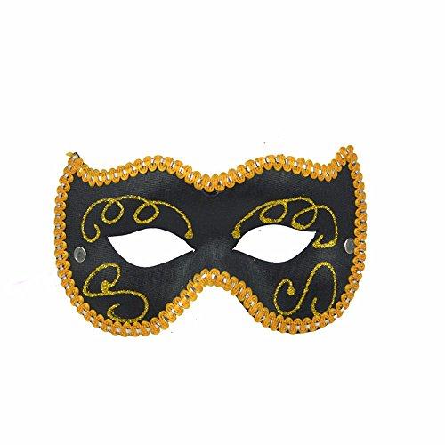 Maskerade,Kinder Festival Party Maske Spiel Show Requisite halbe Gesicht bemalte Maske schwarz Masquerade