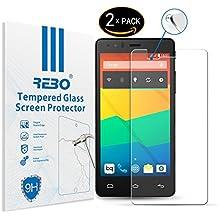 BQ Aquaris E5 / E5s / E5 4G Protector cristal templado - RE3O® 2 x Protector de pantalla cristal templado vidrio templado para BQ Aquaris E5 / E5s / E5 4G 5,0'' pulgadas, Borde redondo elegante 2,5D, Fácil de instalar y sin burbujas de aire, Dureza 9H Anti-choque y Resistencia al desgaste a prueba de rasguños, Alta transparencia, Efecto anti-huella digital perfecto