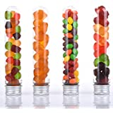 Amazlab Novelty Clear Lab Test Tubes With Silver Lid, Set Of 10, Empty Candy Containers, Works Perfectly For Trick Or Treat, Jelly Bear Or Nuts Container, Party Shooters