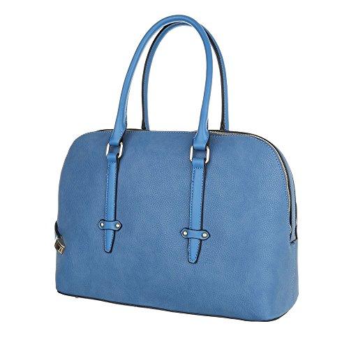 Damen Schultertasche Handtasche Tragetasche Shopper Elfenbein Schwarz Blau Beige Rot Gelb Hellblau