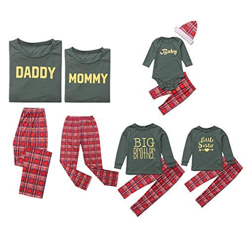 Pajamas de Navidad a juego para niños y adultos, conjunto de pijama de Navidad para niños, pijama y ropa de dormir familiar a juego WOMEN Talla:M