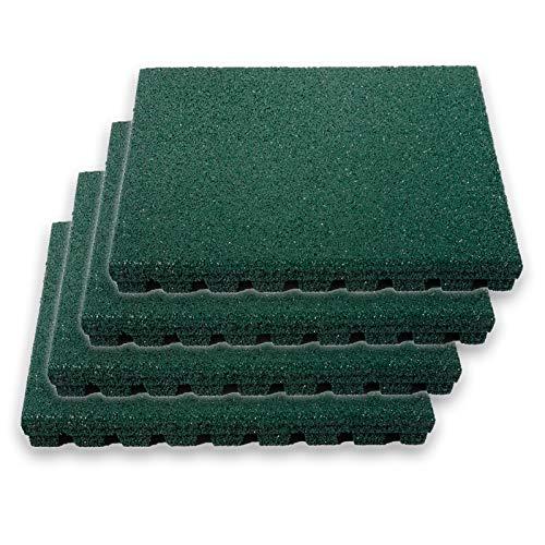 en im Set   TÜV und Schadstoff geprüft   Stärke 25 mm   für Spielplatz und Garten   50x50 cm   Grün ()
