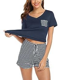 e79b274fed3 Women s Pajamas Set Loungewear Short Sleeve Soft Modal PJ Set Nightwear  Sleepwear for Summer