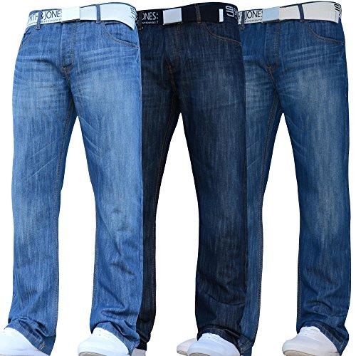 Smith and Jones New Mens Designer Branded Straight Leg Regular Fit Relaxed Denim Jeans Pants JEANBASE