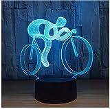 3D Nachtlicht Erstaunliche Geschenke Led Tischlampe 3D Fahrrad Form Lampe 7 Farben Ändern Usb Deco Lichter Nachtlicht Als Hauptdekoration