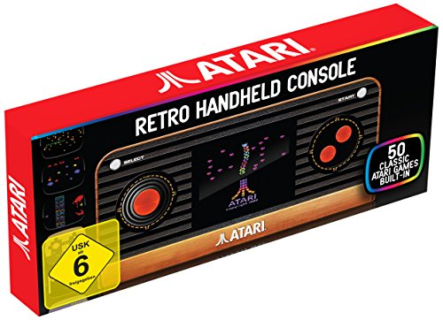Atari Retro Handheld Console with 50 built-in classic games inc. Pong, Missile Command.