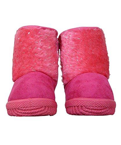 Sparkle Fur Faux Suede Toddler Boots - Fuchsia Fuschia