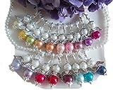 DIY- Sets 20 + 1 Perlenengel Schutzengel Glücksengel als Gastgeschenk für Hochzeit Taufe Kommunion Kindergeburtstag Farben Mix