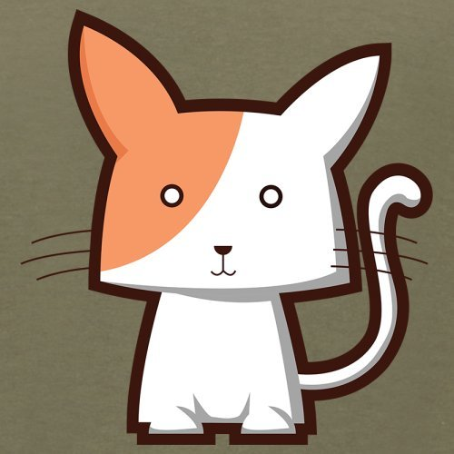 Cute Cat - Herren T-Shirt - 13 Farben Khaki
