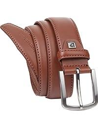 Pierre Cardin - Cinturón de cuero para hombre, negro