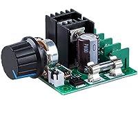 SODIAL(R) 12V-40V 10A PWM Controlador de velocidad del motor DC con perilla