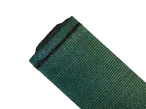 MAILLESTORE Brise-Vue 90% - Vert/Noir - 185g/m² - Boutonnières Vert/Noir 2m x 5m