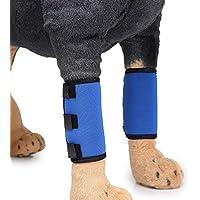 Ayuda de las polainas del perro, pierna azul del animal doméstico lesión de la articulación cirugía de la recuperación correas del perro ayuda de la debilidad de la pierna del perro ( Tamaño : L )