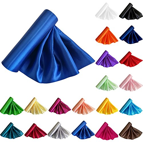 TtS 29CM X 20M Satin Roll Fabric Chemin de Table Sashes Swags Mariage Ceremonie Fête--Bleu Royal