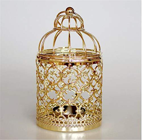 muck Dekorative Verzierung Romantische Dekoration Goldene Hohle Metall Muster Zylinder Kerzenständer Hochzeit Mittelstücke Dekorative Eisen Kerzenständer Laterne Dekor Handwerk ()
