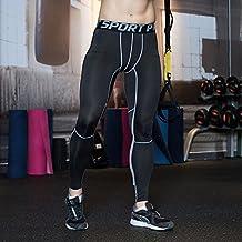 UrChoiceLtd® 2017 GYM QX Hombre Correr Deportes Pantalones Hombre Compresión Llevar Entrenamiento Ropa Rápida Seco Respirable Cómodo Leggings Base Elite Fitness Térmica Wow (l, gris)