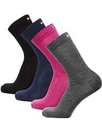 Calcetines de Lana Merino, para hombre y mujer, térmicos transpirables, amortiguados, fabricados
