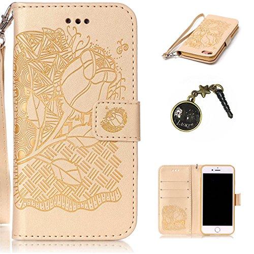 Preisvergleich Produktbild PU Silikon Schutzhülle Handyhülle Painted pc case cover hülle Handy-Fall-Haut Shell Abdeckungen für Apple iphone7 (4.7 Zoll) +Staubstecker (10YY)