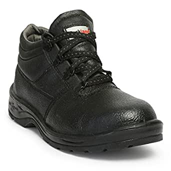 Hillson HLSN_RCKL_8 Rockland PVC Moulded Safety Shoe (Black, UK Size 8)