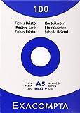 Etui de 100 fiches bristol - blanc uni non perfore 148x210mm