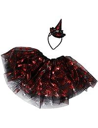 K-youth Falda para Niñas Vestidos Niña Falda de Tutu de la Mascarada Infantil de Halloween de Baile Niñas Ropa de Vestido Tutú Faldas con Diadema