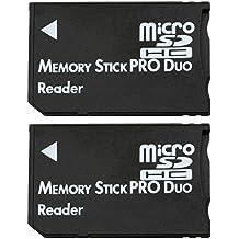 COM de Four® Micro SDHC a MS Pro Duo Adaptador de tarjeta de memoria microSD a Memory Stick
