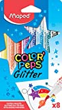 Maped Color'Peps Feutres de Coloriage Glitter Encre à Paillettes pour Enfant Effet Métallisé - Boîte de 8 Feutres Pailletés Assortis