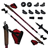 Denq Bar Nordic Walking Poles, Unisex, Nordic, Evening Red, One Size