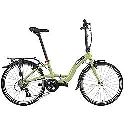 Dahon bicicleta plegable Briza D88marchas, Verde 24pulgadas uni aluminio bicicleta plegable plegable marco sin conexión en cadena, 942263