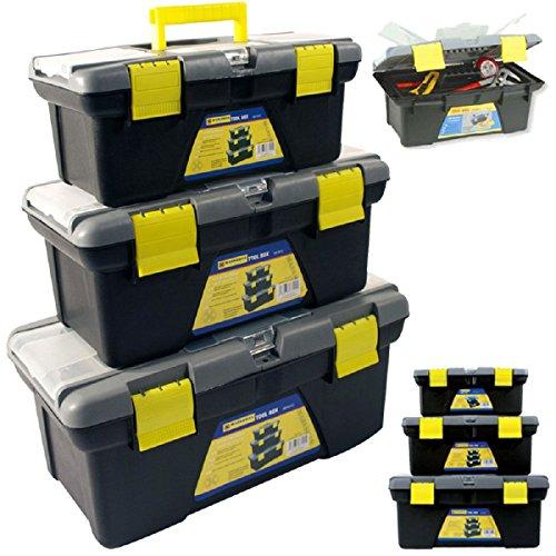 Kunststoff Tool Box Chest Griff Tablett & Fach DIY Aufbewahrung Toolbox Tasche Kunststoff teiliges Set Mobile Werkstatt Organizer Handwerker Medium kleinen Marke Neu (Tool Chest 48)