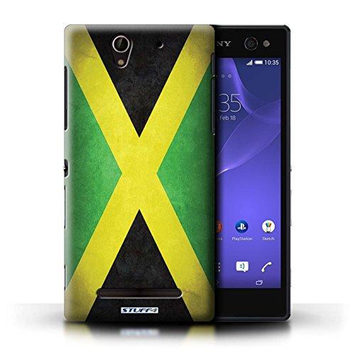 Coque en plastique pour Sony Xperia C3 Collection Drapeau - Chili/Chiliean Jamaïque/jamaïcain