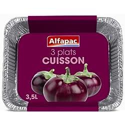 Alfapac - Bandejas de cocina de aluminio, 2 paquetes de 3 unidades (3.5l)