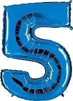 """Palloncino in mylar raffigurante il numero """"5"""" Misura: 40 pollici di altezza (circa 100 cm) Colori Disponibili: Argento, Blu, Fucsia, Rosso, Nero e Multicolor Quantità: 1 pz Ideali per matrimoni, compleanni, feste, anniversari e tante altre o..."""
