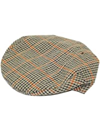Hawkins Tweed Country Herringbone Flat Cap A14 - Brown - 58Cm