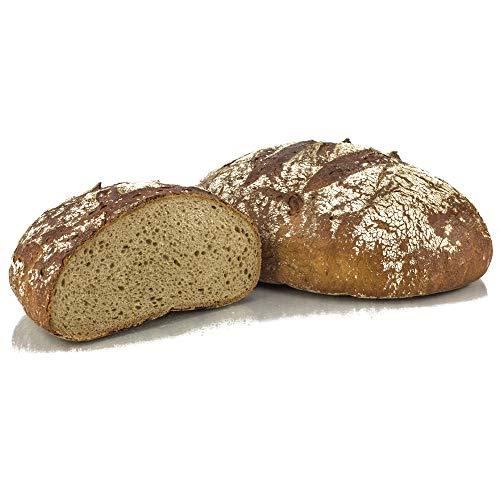 """Pan de centeno autentico alemán """"Frankenkruste"""" 1000 g - pan artesanal de Alemania, conservable por 14 días, horneado fresco en 10 minutos"""