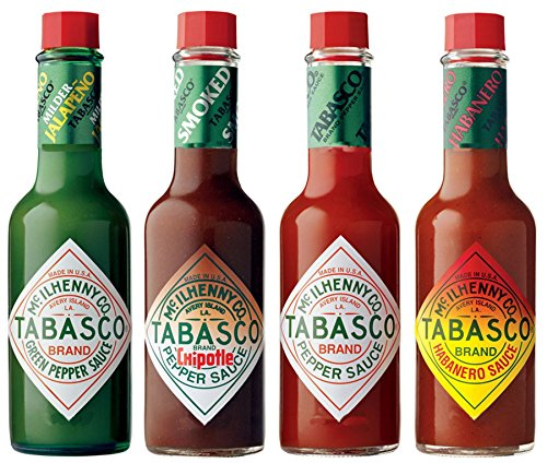 Tabasco-Pfeffer-Soße - Satz von 4 Aromen - Eingepackt (Tabasco-sauce Original)