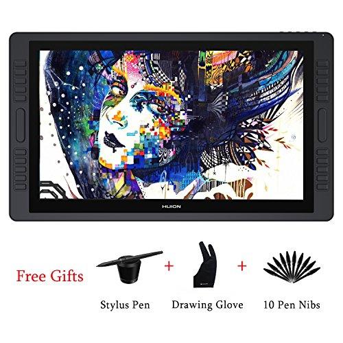 HUION KAMVAS GT-221 Pro Tablette Dessin Graphique Professionnelle à Stylo HD IPS avec Stylo à 8192 Niveaux de sensibilité à la Pression et 10 Touches Express, 1 Barres tactiles