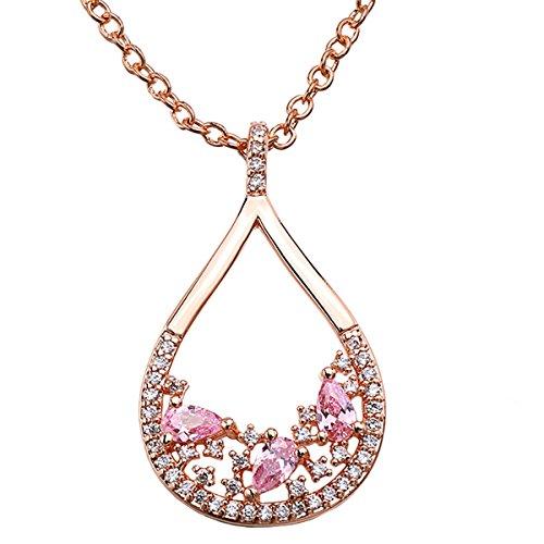 LF Collana pendente elegante di colore rosa