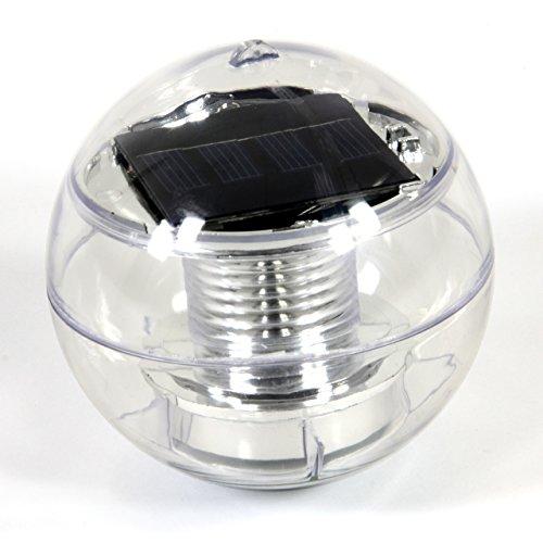 Nexos Solar Schwimmkugel 2 LED mit Farbwechsel Solarlampe Kugel 12 x 12 x 12,5 cm Teichbeleuchtung Solarkugel Dekolicht Solarbeleuchtung