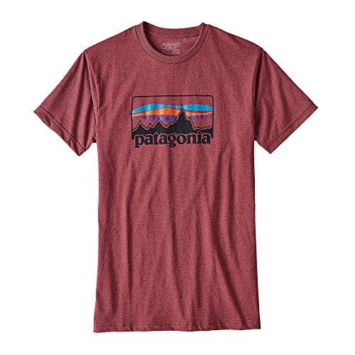 patagonia-73-logo-cotton-poly-t-shirt-men-grosse-m-adzuki-red