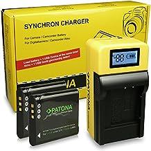 LCD Chargeur + 2x Premium Batterie D-Li92 pour Pentax Optio I-10 | Optio RX18 | RZ10 | RZ18 | WG-1 | WG-1 GPS | WG-2 | WG-2 GPS | WG-3 | WG-3 GPS | WG-10 | X70