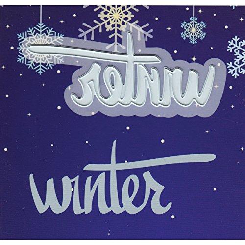 Ecstasy Crafts-Joy Crafts in metallo a sbalzo e fustellatura, motivo: inverno, 3 cm x 2,8 cm