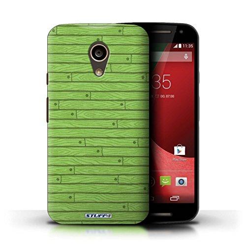 Kobalt® Imprimé Etui / Coque pour Motorola Moto G (2014) / Bleu conception / Série Motif Bois Vert