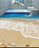 Weaeo Qualitativ Hochwertigen 3D-Stock Strand Pvc Bodenbeläge Wasserdicht Pvc-Folie, Selbstklebend 3D Stock Wandmalereien-280 X 200 Cm